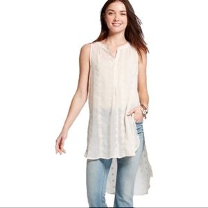 Knox Rose High Low Sleeveless Embroidered Tunic